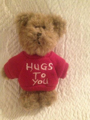 "Tiny 4"" Boyds Bears Hugs To You Red Shirt Teddy Bear Mini Plush Stuffed"