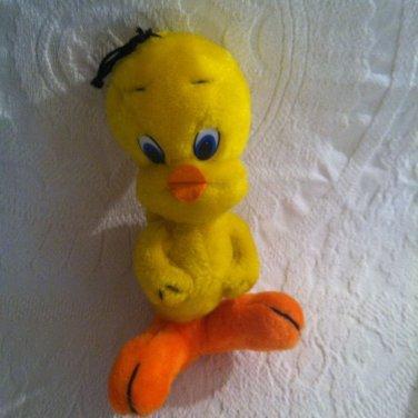 "Vintage 1977 Fun Farm Warners Bros. Looney Tunes Stuffed Plush 10"" Tweety Bird"