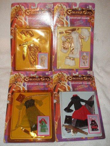 Lot 4 VTG 1984 Golden Girl & Guardians of Gemstones outfits Jade Dragon Queen