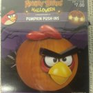 NEW Halloween Angry Birds Pumpkin Push-Ins Plastic Red Bird Face