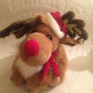 "12"" 1991 Burdines Dept. Store Exclusive Christmas Reindeer Plush Stuffed Toy"