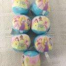 "3 1/2"" Mini Franklin Disney Princess Soft Play Ball Lot Party Favor Belle Ariel"