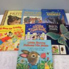 VTG Lot Golden Books Big Animals Songbook Prayers Insect Stamps Little Bunny