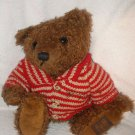 """10"""" 1996 Giorgio Beverly Hills Collector's plush Brown Bear with sweater stuffed"""
