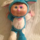 """9"""" 2010 Cabbage Patch Kids Plush Vinyl Head Pink Blue Spotted Puppy Dog Outfit"""