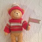 "Rare 5"" 1993 NFL Team Football 49ers Poseable Plastic Teddy Bear Hat Sweater"