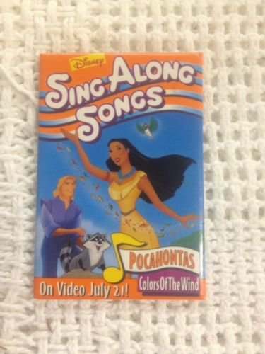 Disney Pocahontas Colors Of The Wind Sing Along Songs Store Employee Pin