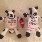 "Lot 6"" Chick Fil A Plush Cow Punt Burger Pass Chikin 2006 Bowl & Eat Mor"