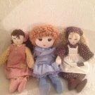 VTG Lot Upstairs Doll Azrak Hamway & Handmade Cloth Blonde Brown Blue