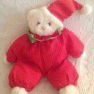 "11"" Russ Beany The Red Clown Outfit Plush Stuffed White Teddy Bear"