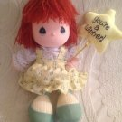"""11"""" VTG 1989 Precious Moments Vicky You're A Winner! Red Hair Plush Doll"""