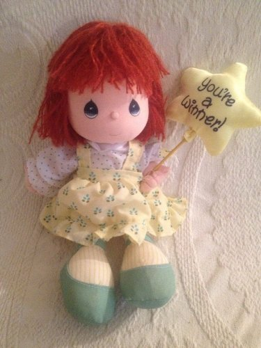 "11"" VTG 1989 Precious Moments Vicky You're A Winner! Red Hair Plush Doll"