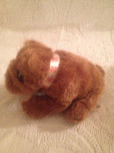 "7"" Long 1996 Purina Pets For People Program Plush Stuffed Brown Dog"