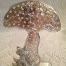 "VTG Revere 5"" Silver Colored Metal Frog Toad Under Mushroom Earring Tree"