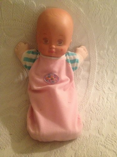 "1991 Mattel 12"" Magic Nursery Girl Baby Doll Magic Sleep Eyes In Sleeper Outfit"