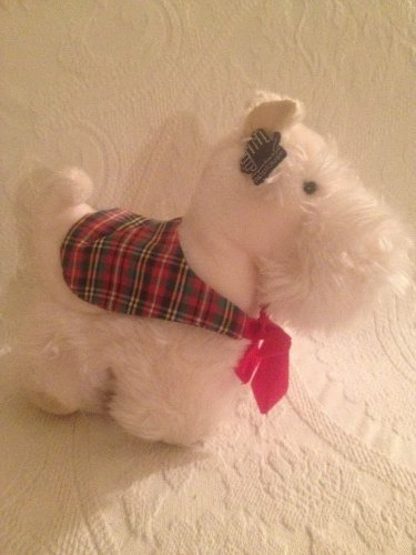 "Rare VTG 1984 Applause 10"" Long Mac Gregor Scottie Dog White Plush Stuffed"
