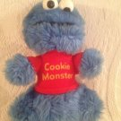 "Vintage 8"" Cookie Monster Plush Stuffed Toy Plastic Rattle Eyes"