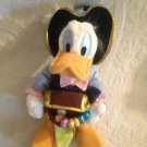 "13"" Disney Pirates Of The Caribbean Plush Stuffed Donald Duck W/ Treasure Chest"