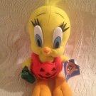 "10"" Looney Tunes Tweety Bird Halloween Twick Or Tweet Jack-O'-Lantern Plush"