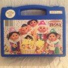 Rare 1992 Norfon Troll Blue Pencil Carry Case Clowns Easter Peeps Jellybeans