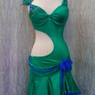 Emerald latin dance dress
