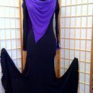 Black practice  ballroom dance dress