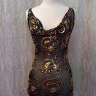 black and gold  party top