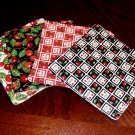 Cherries Fabric Coasters Set of 4