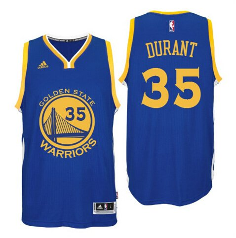 Kevin Durant Golden State Warriors 35 Blue Swingman Adidas NBA Jersey Size 48 (M)