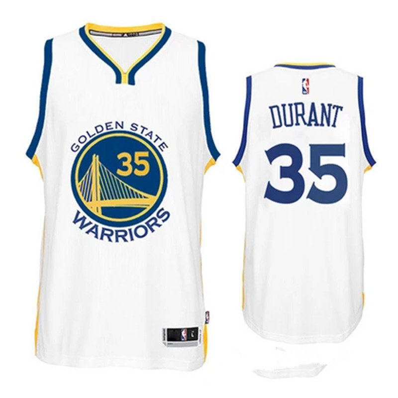 Kevin Durant Golden State Warriors 35 White Swingman Adidas NBA Jersey Size 44 (S)