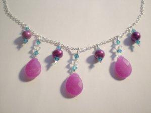 Razzle Dazzle Pearl and Swarovski necklace
