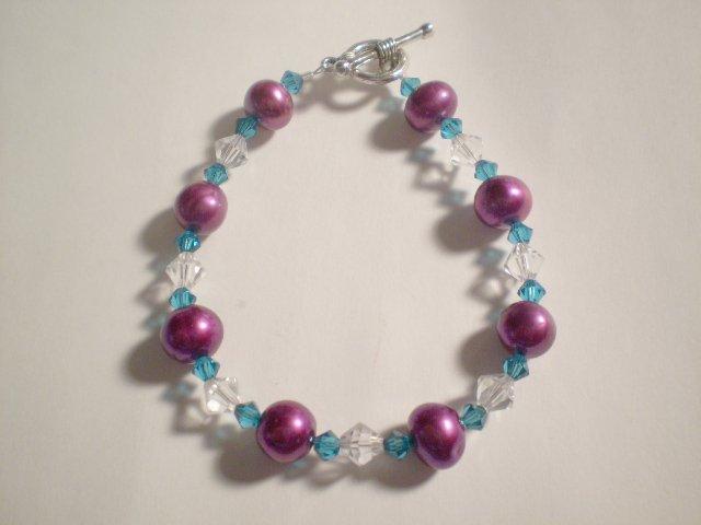 Razzle Dazzle Pearl and Swarovski bracelet
