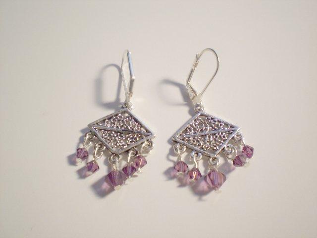 Purple Rain Swarovski dangle earrings