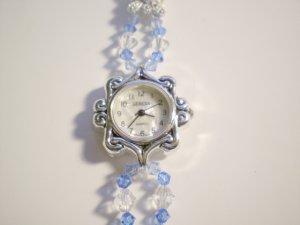Blue Swarovski Double-strand watch