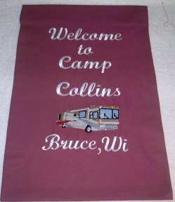 Personalized RV Motorcoach Garden Flag