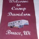 Personalized RV 5th Wheel Garden Flag