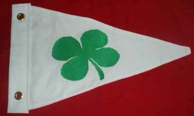 DOUBLE SIDED COTTON SHAMROCK BOAT BURGEE FLAG