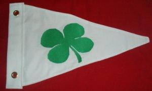 DOUBLE SIDED COTTON SHAMROCK BOAT BURGEE FLAG