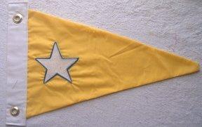 Double-side Star Boat Burgee Flag