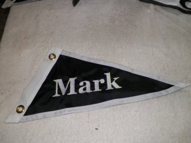 Personalized Cotton Custom Your Boat Name Boat Burgee Flag