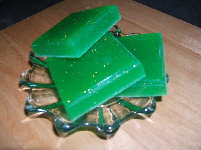 MINTY COCONUT LIME HANDMADE SOAP - 3 oz. Bar