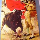 Rico Tomaso matador bull lithograph on board mint condition AL1050