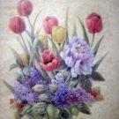Vivian Flasch framed floral print tulip peony lilac primrose AL1252