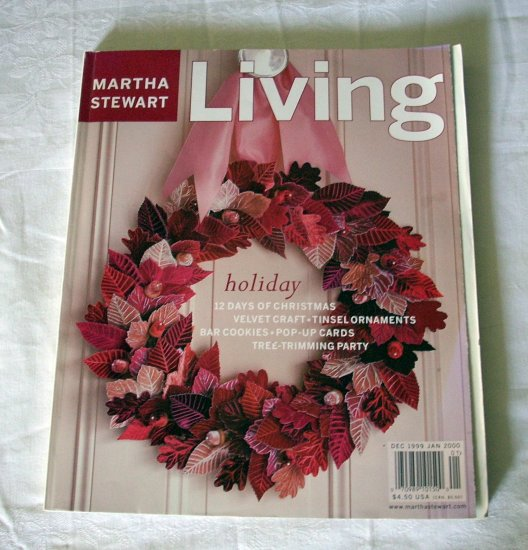 Martha Stewart Living magazine Dec 1999 Jan 2000 holiday ...