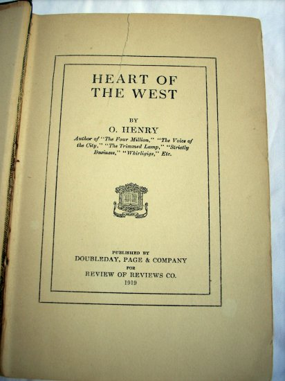 Heart of the West short stories by O Henry Review of Reviews edition 1919 AL1272