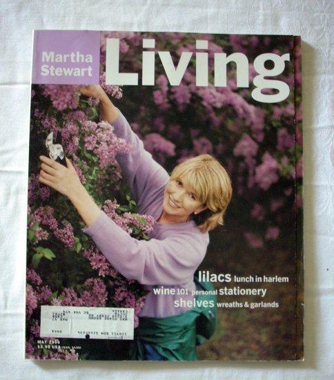 Martha Stewart Living magazine May 1996 lilacs wine shelves AL1275