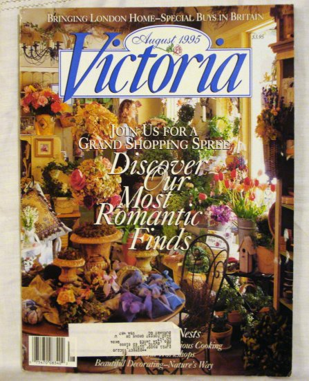 Victoria magazine back issue August 1995 London issue AL1526