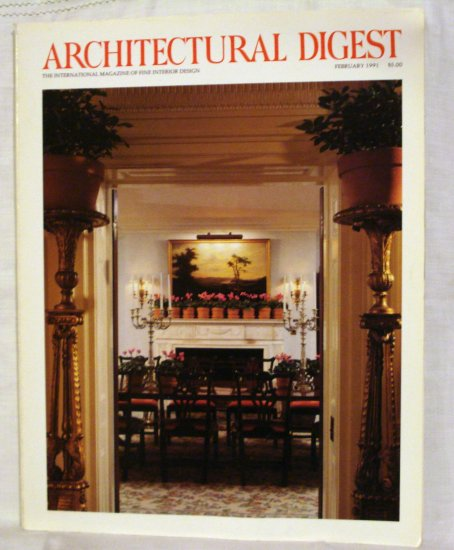 Architectural Digest February 1991 Architecture issue AL1537