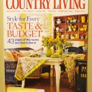 Country Living January 2006 back issue magazine all tastes and budgets AL1630