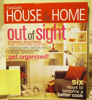 Canadian House and Home March 2003 back issue magazine storage solutions AL1659